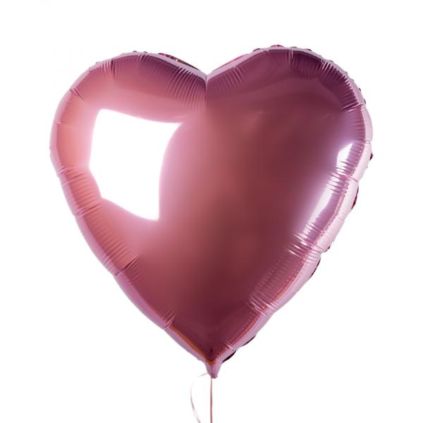 "Foil balloon ""Pink heart"""