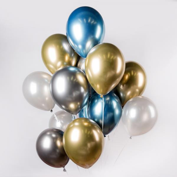 "Latex balloons ""Blue Gold"""