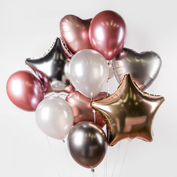 "Bunch of balloons ""Rose Gold"""
