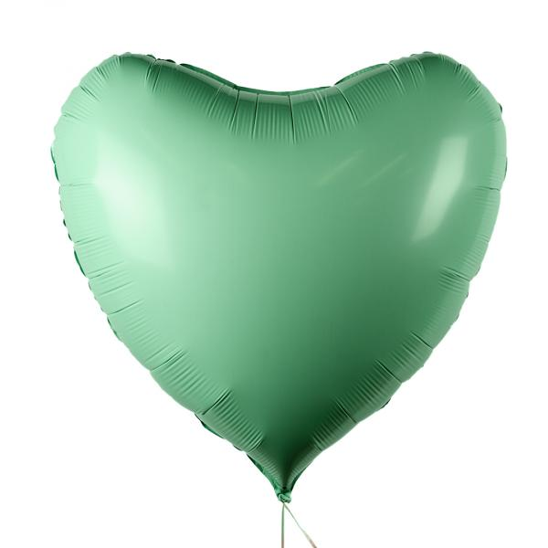 "Foil balloon ""Green Heart"""