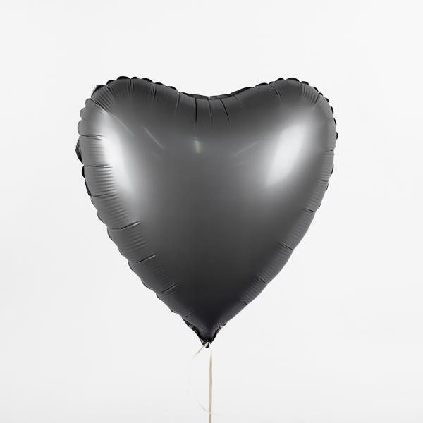 "Foil balloon ""Dark gray heart"""